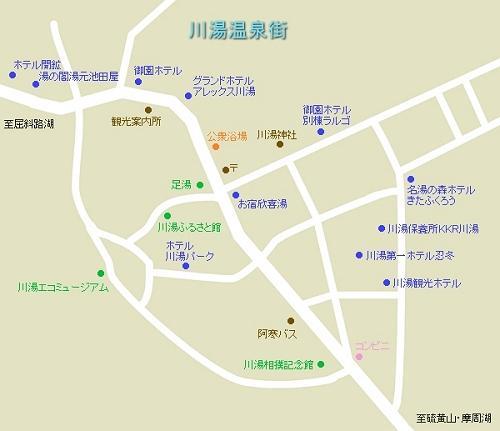 川湯温泉 地図
